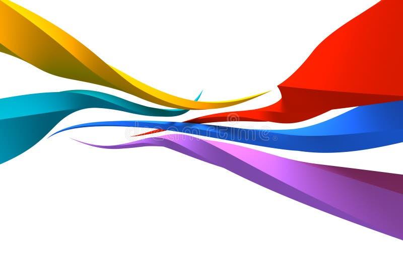 Lignes 3d abstraites illustration libre de droits