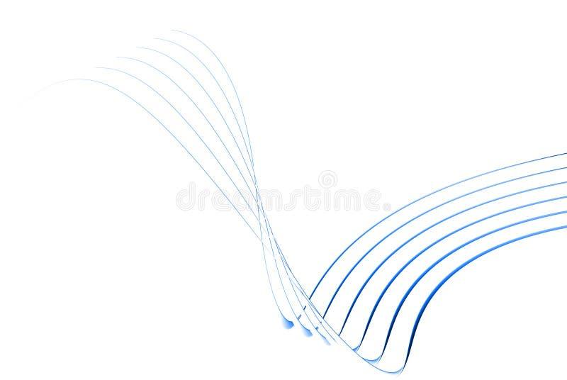 lignes 3d minces bleues illustration de vecteur