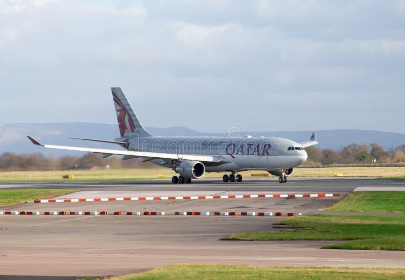 Lignes aériennes Airbus A330 du Qatar image libre de droits