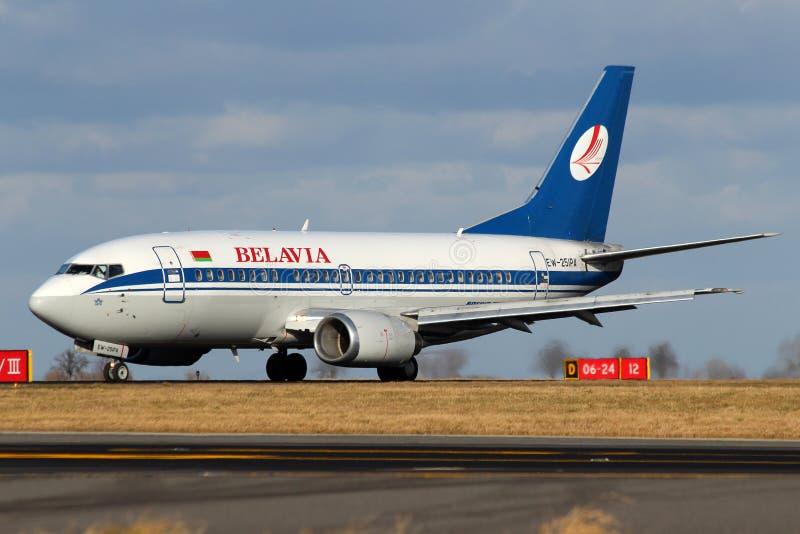 Lignes aériennes biélorusses de Belavia image libre de droits