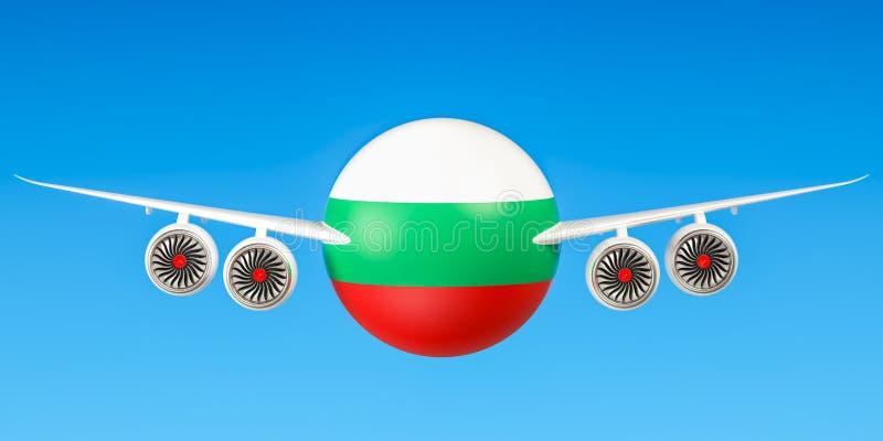 Lignes aériennes bulgares illustration de vecteur