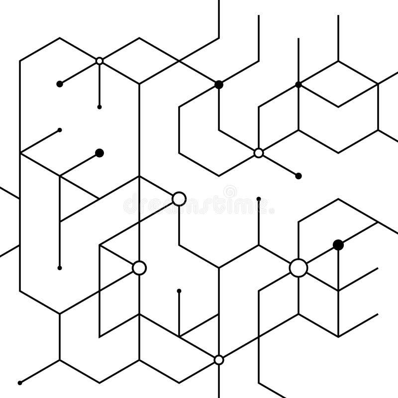 Lignes abstraites illustration libre de droits