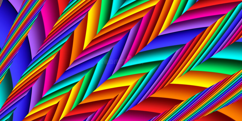 Lignes abstraites brillantes et colorées pour l'arrière-plan Artisanat du design créatif et de l'art illustration stock
