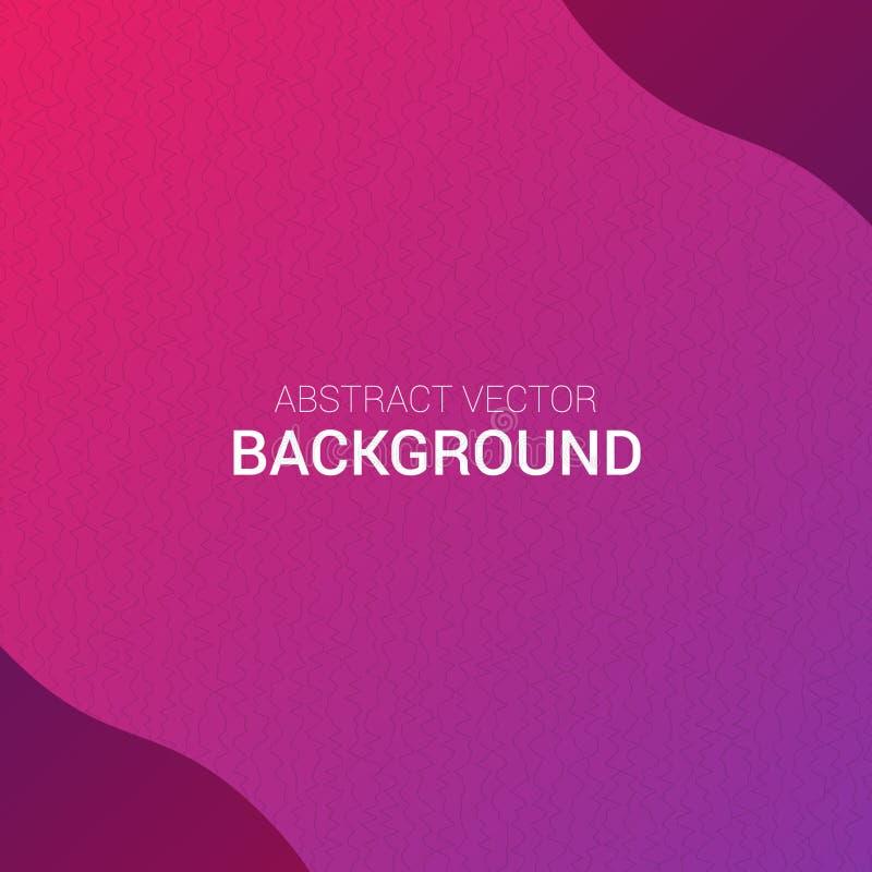 Lignes abstraites calibre de vecteur de bannière de conception de fond d'affiche de gradient de texture photos stock