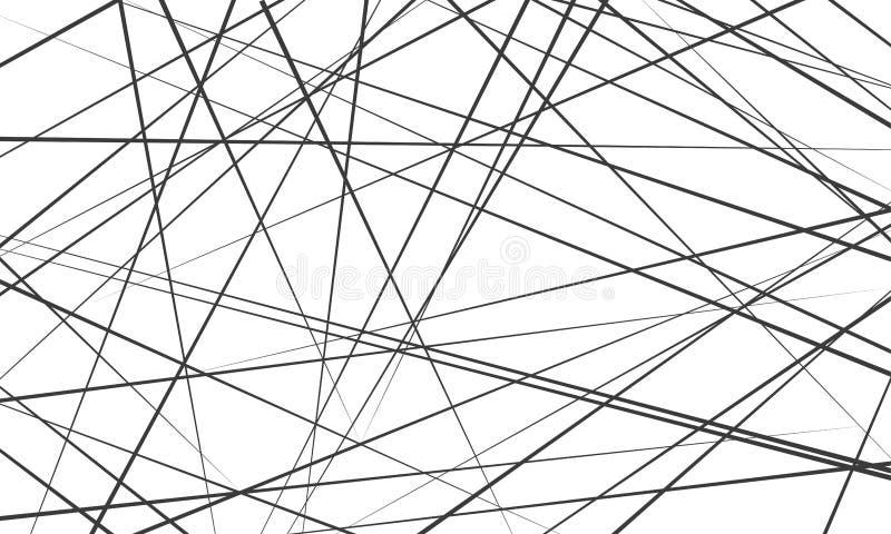 Lignes abstraites chaotiques fond de modèle de vecteur illustration stock