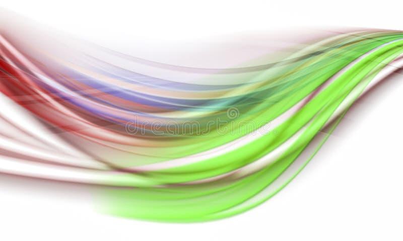 Lignes abstraites colorées illustration stock