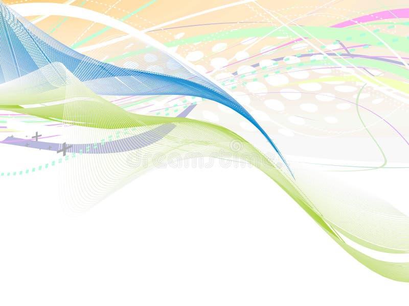 Lignes abstraites d'onde illustration libre de droits