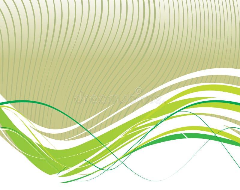 Lignes abstraites d'onde illustration stock