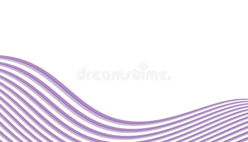 Lignes abstraites dans la forme d'onde images stock