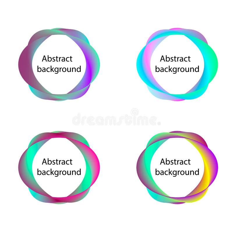 Lignes abstraites rondes milieux d'isolement sur le blanc illustration libre de droits