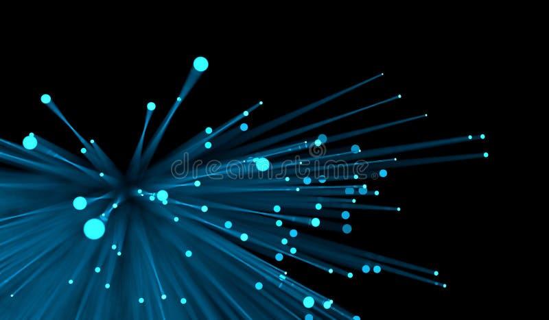 Lignes au néon bleues de bokeh abstrait illustration de vecteur