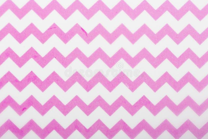 Lignes blanches de conception rose de motif papier de modèle pour l'écharpe extérieure d'enveloppe de cadeau d'impression de couv image stock