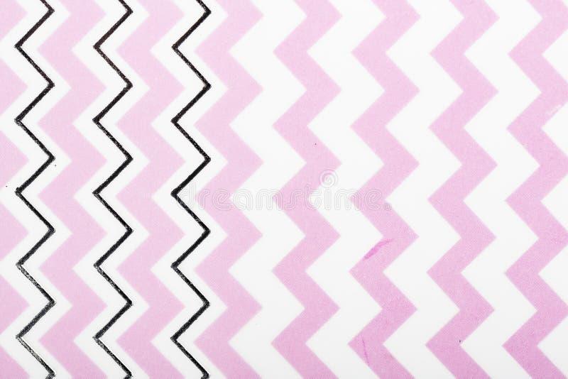 Lignes blanches de conception rose de motif papier de modèle pour l'écharpe extérieure d'enveloppe de cadeau d'impression de couv photo stock