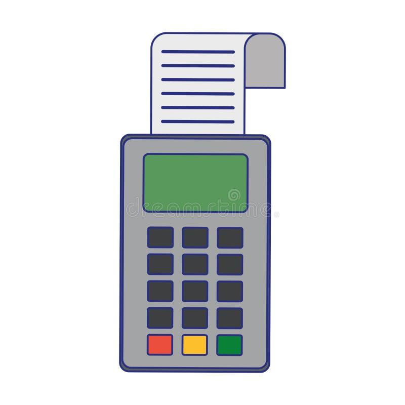 Lignes bleues de dispositif de paiement ?lectronique de lecteur de carte de cr?dit illustration stock