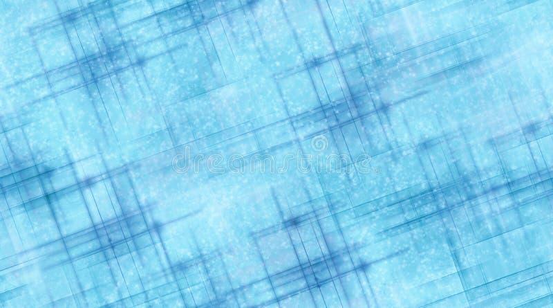 Lignes bleues et neige illustration stock