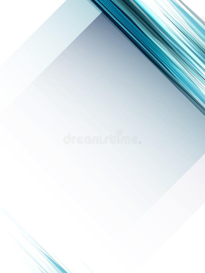 Lignes bleues géométriques abstraites fond illustration de vecteur