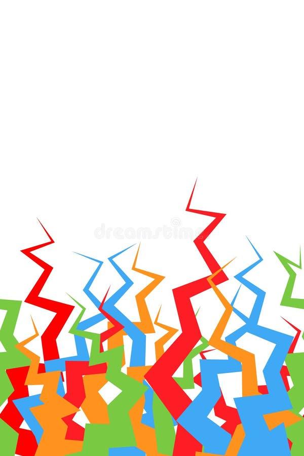 Lignes cassées modèle sans couture Élevage aléatoire coloré géométrique de formes de résumé illustration de vecteur