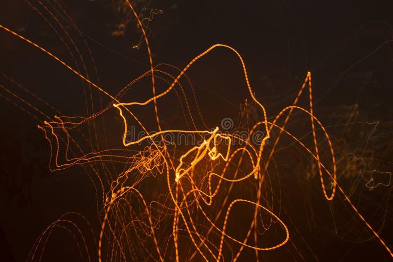 Lignes chaotiques de lumière photographie stock