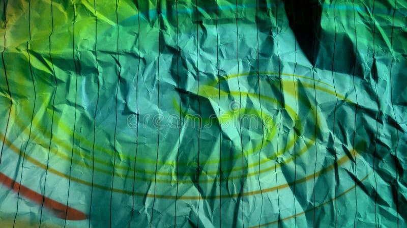Lignes chiffonnées fond multi de rayures d'effets de couleurs d'effets de bleu de ciel de papier photo stock