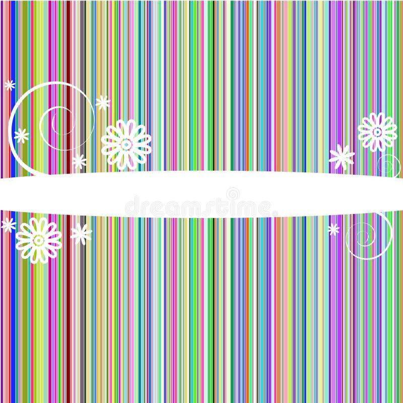 Lignes colorées abstraites cache illustration de vecteur