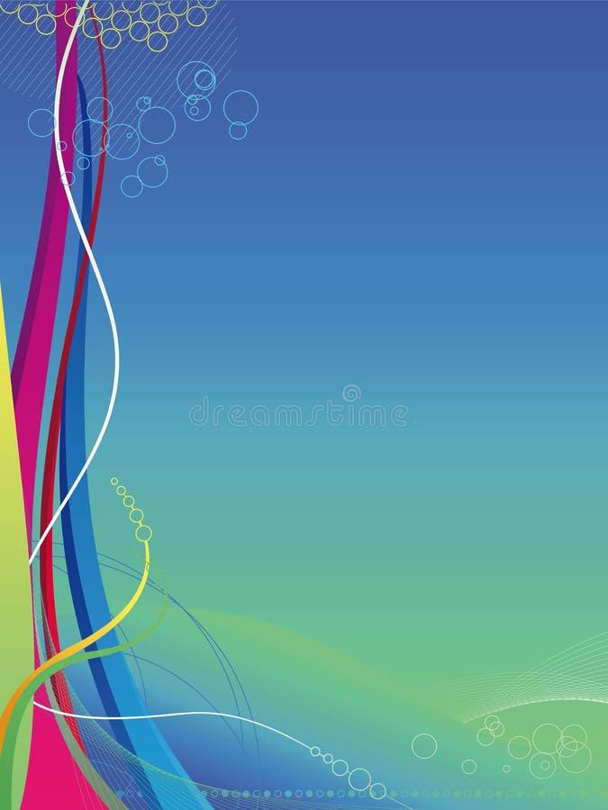 lignes colorées ondes de fond abstrait illustration stock