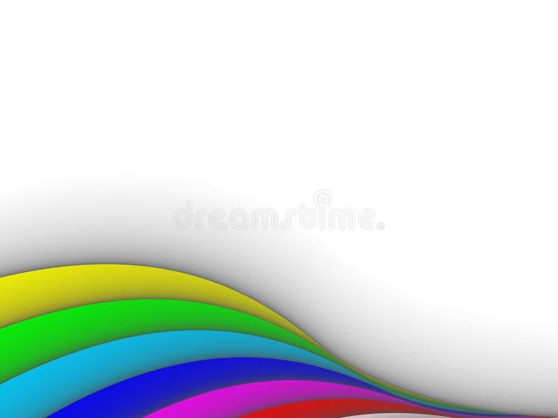 lignes colorées vecteur du fond 3ds illustration libre de droits