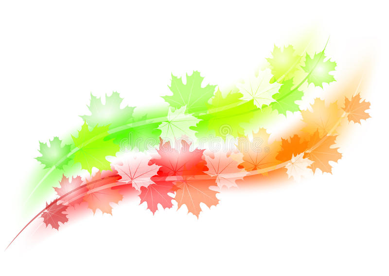 Lignes d'automne illustration stock