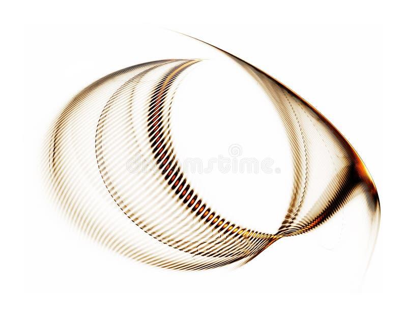 lignes d'or blanc ondulé de fond abstrait illustration libre de droits