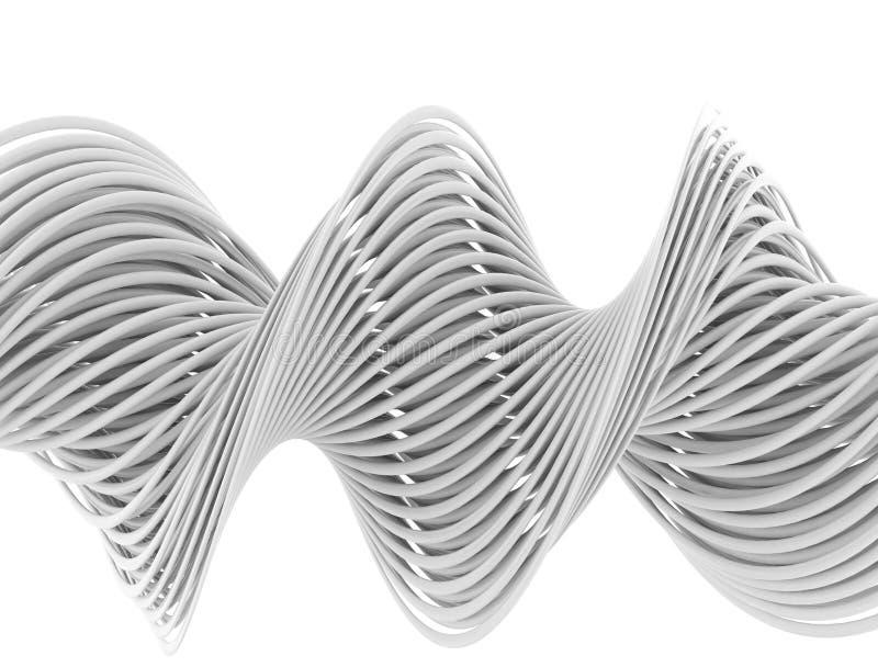 Lignes 3d blanches abstraites illustration de vecteur