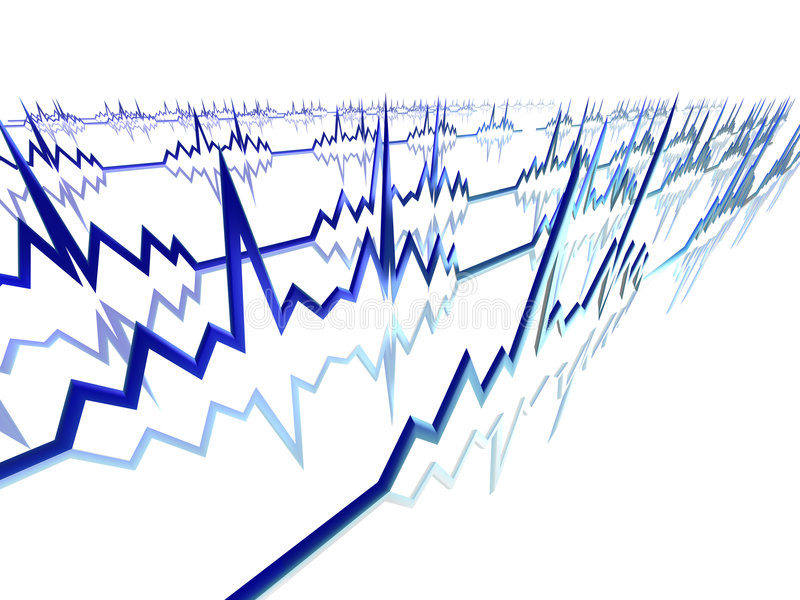 Lignes d'EKG illustration libre de droits