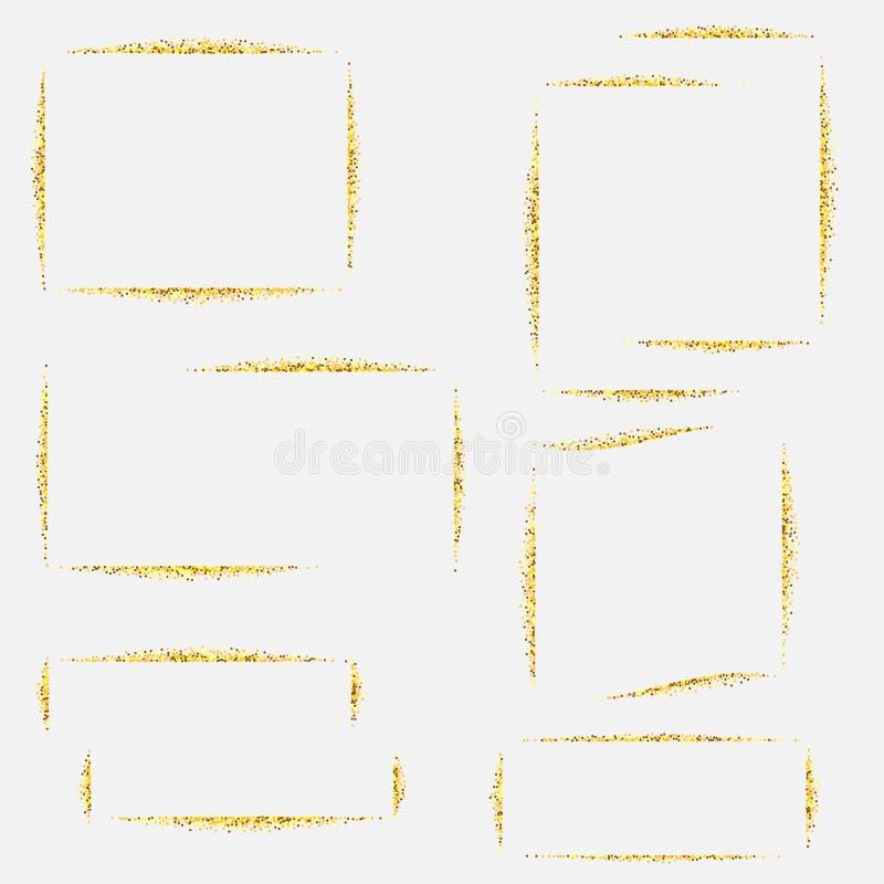 lignes d'or tresse, éclat cadre abr?gez le fond ENV 10 illustration stock