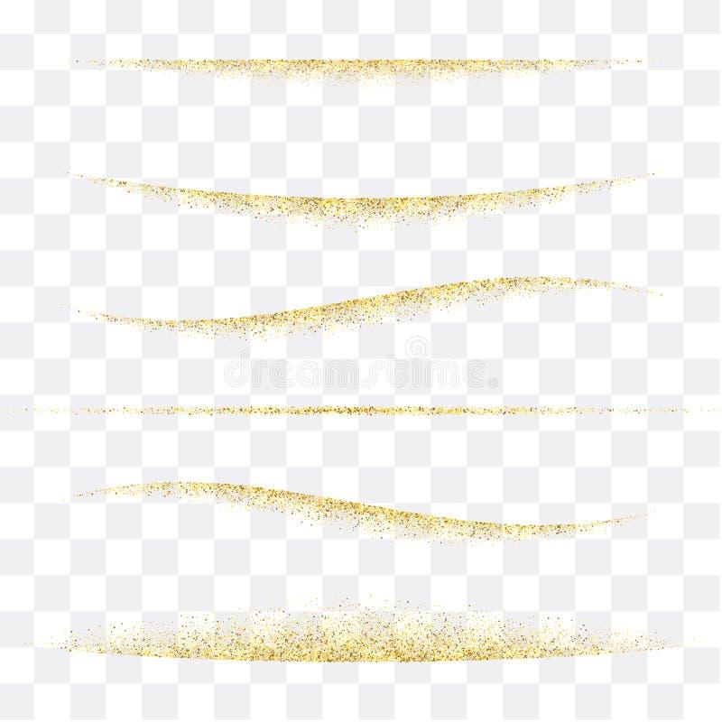 lignes d'or tresse, éclat Mod?le abstrait de vecteur ENV 10 illustration stock