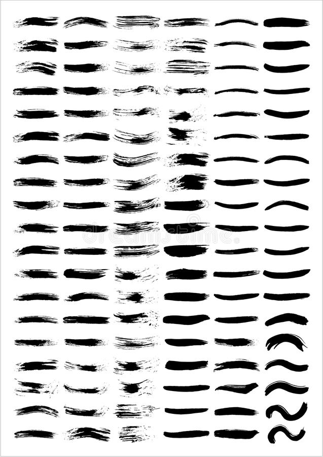 lignes de balai illustration stock