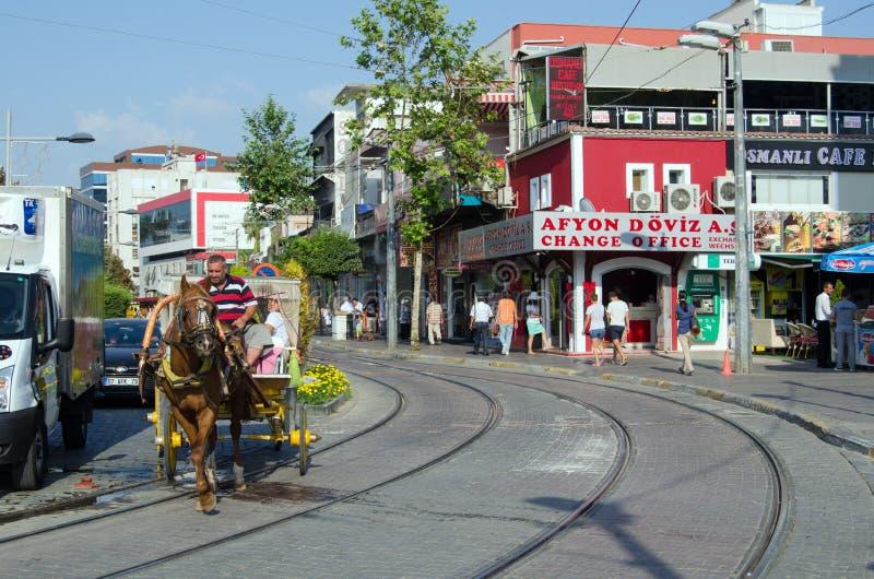 Lignes de cheval et de tram, Antalya image stock