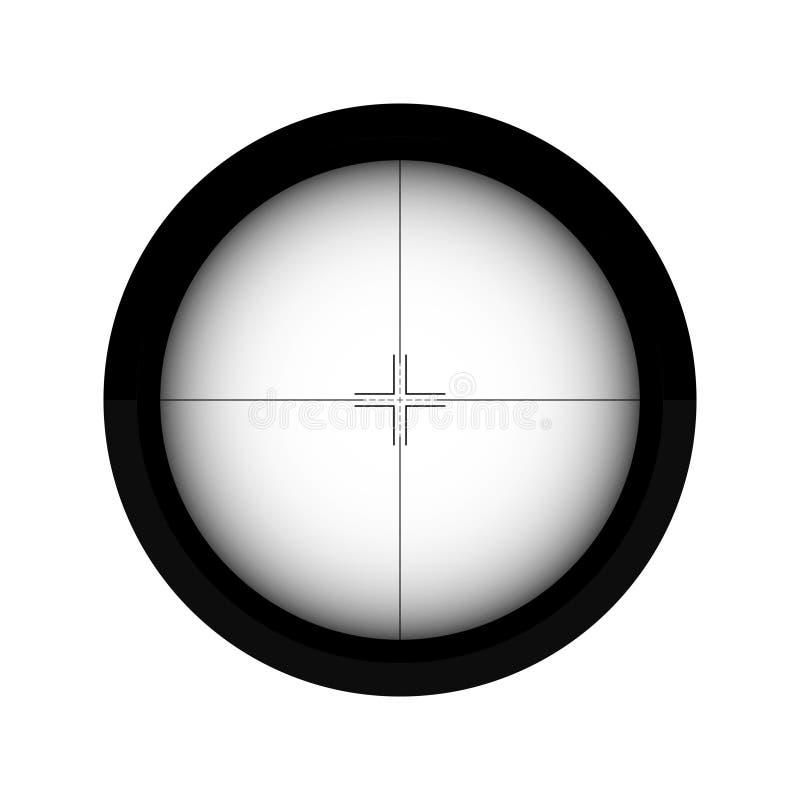 Lignes de cible de tir de portée de tireur isolé illustration de vecteur