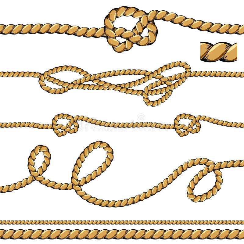 Lignes de corde de brosse illustration stock