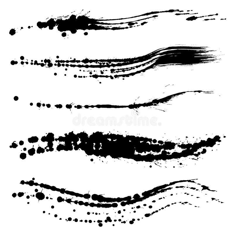 Lignes de course de brosse. lignes manuscrites. illustration libre de droits