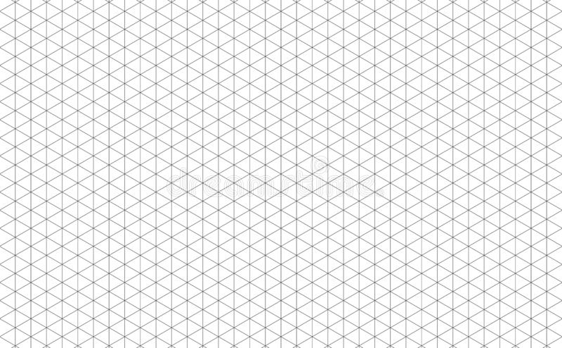 Lignes de grille isométriques illustration de vecteur