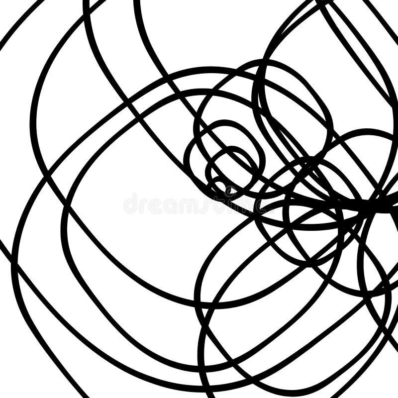 Lignes de intersection aléatoires modèle/texture abstraits géométrique illustration libre de droits