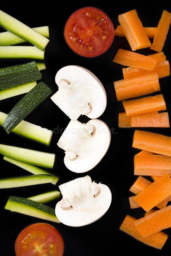 Lignes de légumes photo stock