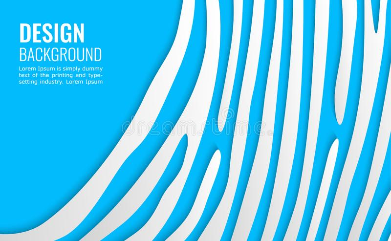 Lignes de livre blanc sur le contexte bleu fond simple pour la conception de couverture, affiche, insecte illustration libre de droits