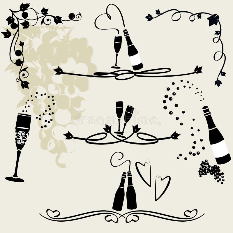 Lignes de règle de célébration ou de mariage illustration de vecteur