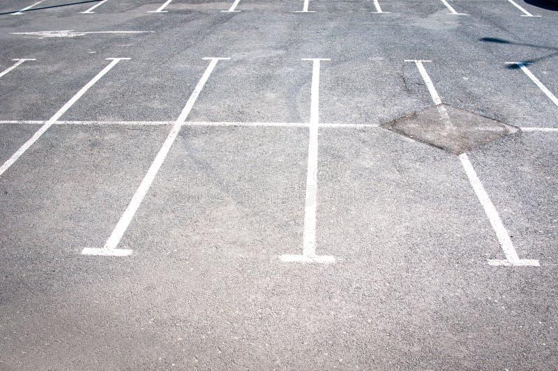Lignes de stationnement photo libre de droits
