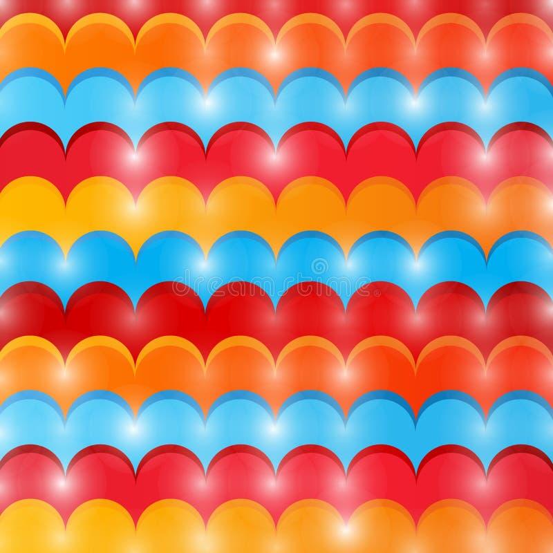 Lignes de vague colorées par résumé illustration stock