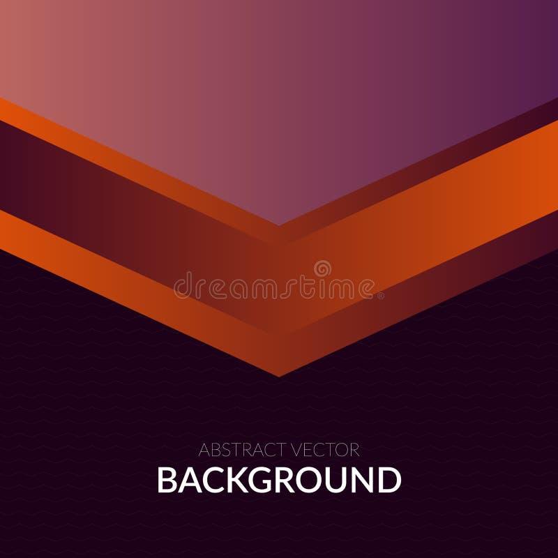 Lignes des pourpres calibre onduleux de vecteur abstrait de bannière de conception de fond d'affiche de salutation photos stock