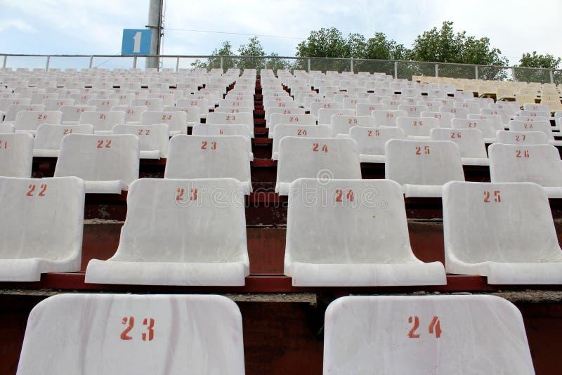 Lignes des sièges photographie stock