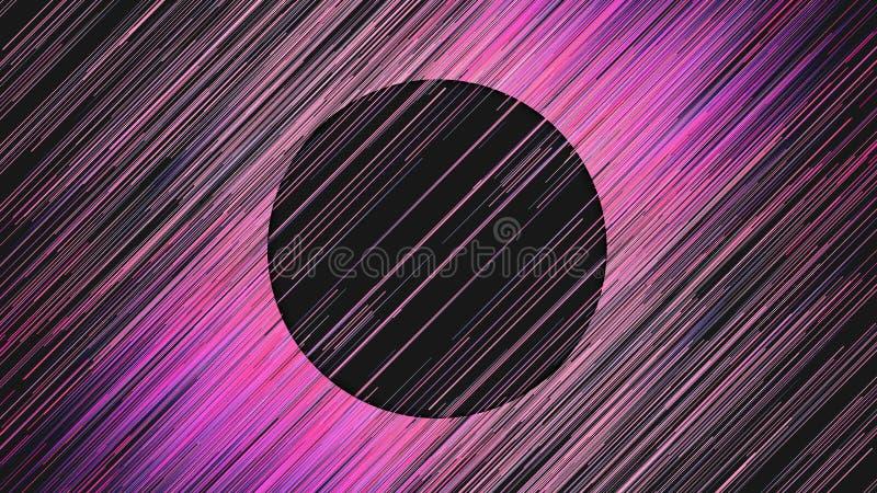 Lignes diagonales fond abstrait de rose de Digital Mod?le g?om?trique g?n?r? par ordinateur rendu 3d illustration de vecteur