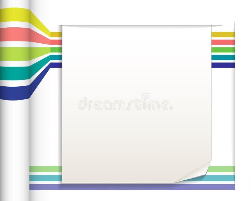 Lignes droites abstraites avec le fond de livre blanc illustration de vecteur