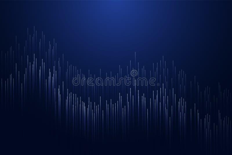 Lignes droites composées de fond rougeoyant Te moderne abstrait illustration de vecteur
