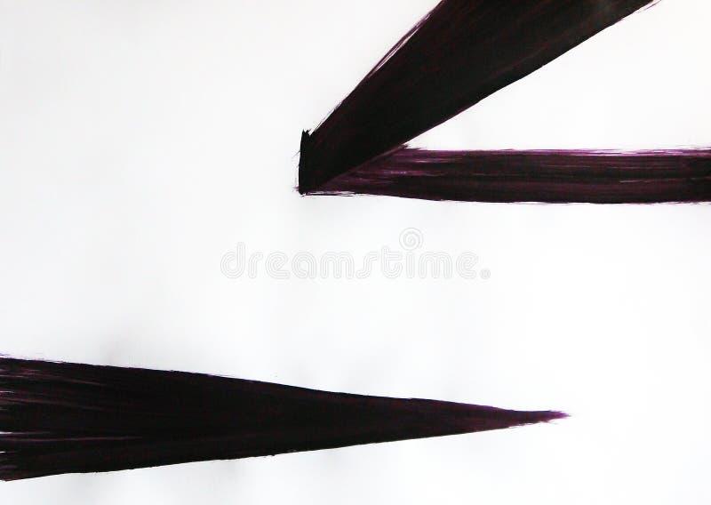 Lignes droites tirées avec les changements de promesse La beauté d'observer la nature de votre maison Perspectives d'harmonie illustration de vecteur